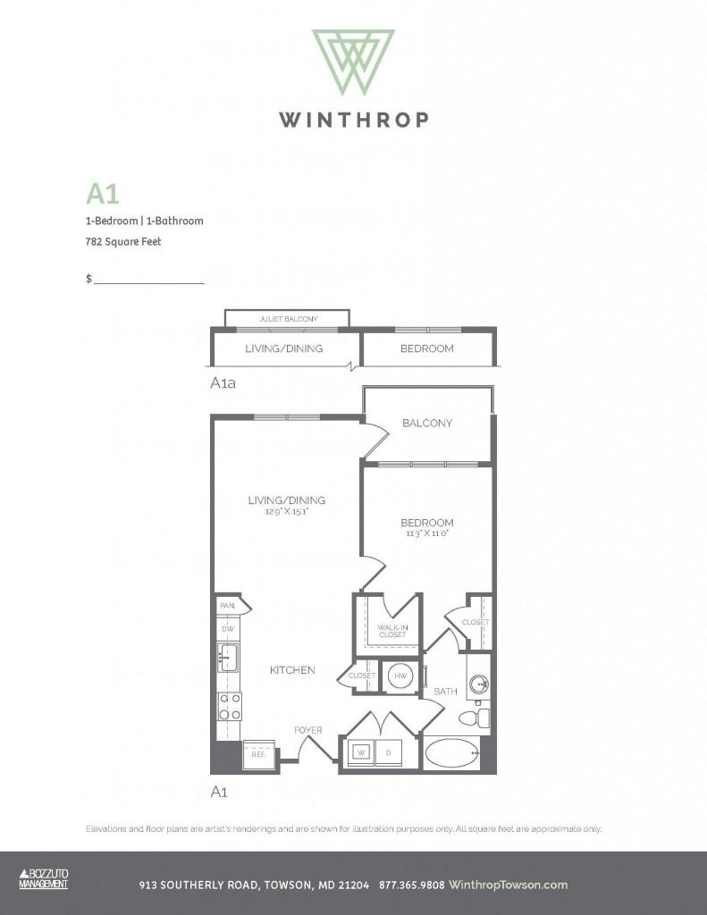 Winthrop floor plans