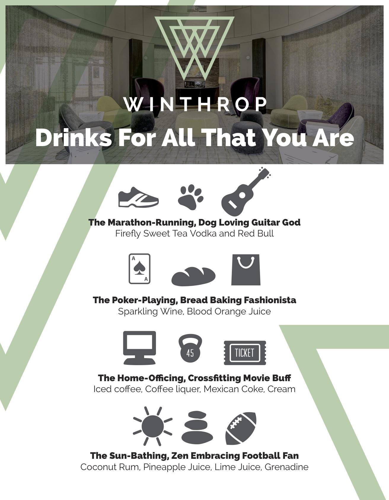 Winthrop cocktail menu